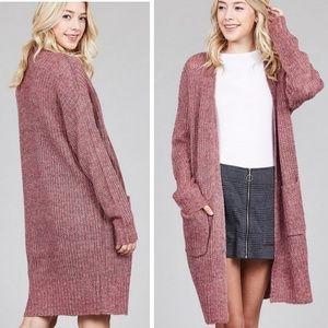 PLUS SIZE Marled Sweater Cardigan